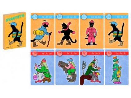 AKIM Hra karetní Kvarteto Kocour Mikeš *SPOLEČENSKÉ HRY*