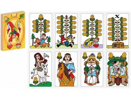 AKIM Hra karetní Pohádky karty hrací jednohlavé v krabičce 32ks