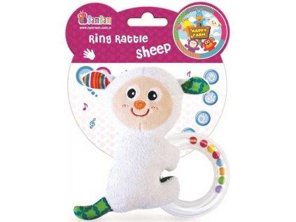 BAM BAM Chrastitko s kuličkami Ovečka Baby Pro miminko