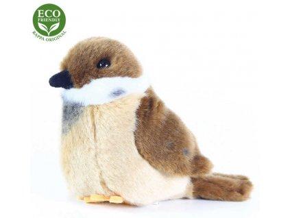 PLYŠ Ptáček vrabec stojící 13cm Eco-Friendly *PLYŠOVÉ HRAČKY*