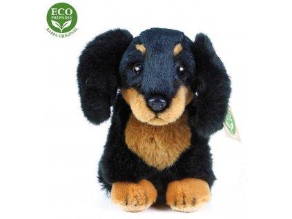 PLYŠ Pes jezevčík sedící 18cm Eco-Friendly *PLYŠOVÉ HRAČKY*