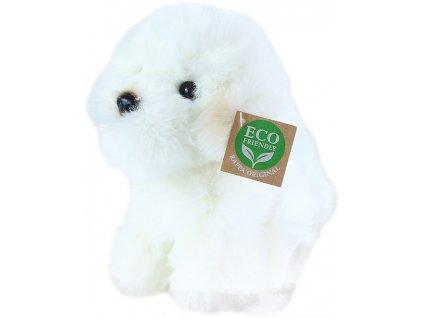 PLYŠ Pes bišon sedící 18cm Eco-Friendly *PLYŠOVÉ HRAČKY*