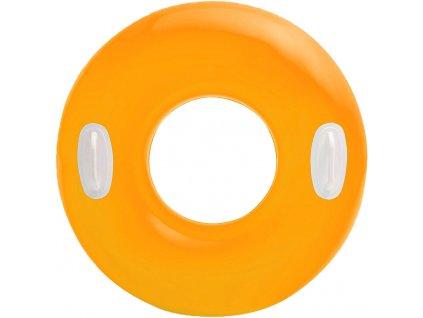 INTEX Kruh s úchyty HI GLOSS 76 cm NAFUKOVACÍ KOLO do vody 3 barvy
