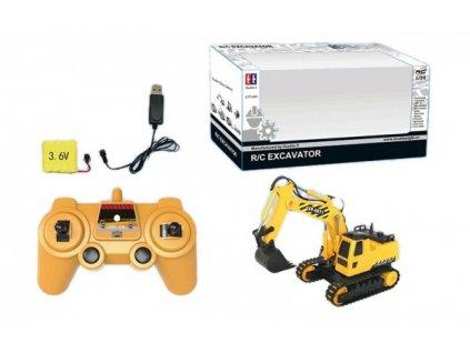 BAGR Excavator 1:26 - na dálkové ovládání  + Nanopodložka nebo propiska