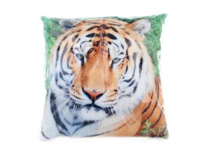 Polštářek 33 x 33 cm tygr