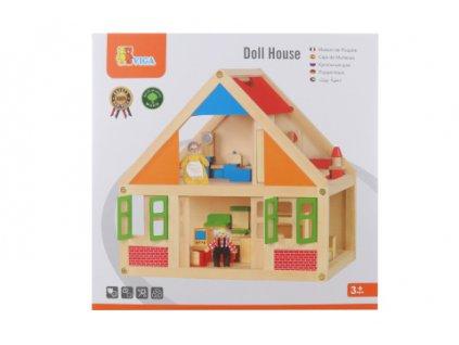 Dřevěný domeček pro panenky  + Dárek zdarma