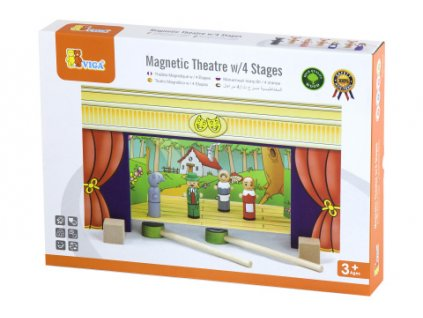Dřevěné magnetické divadlo