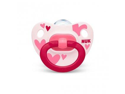 Šidítko NUK Happy Days 18+ m růžovo BOX - bílá/18+ m