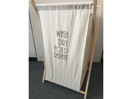 Stylový koš na prádlo - Wash, Dry, Fold, Repeat