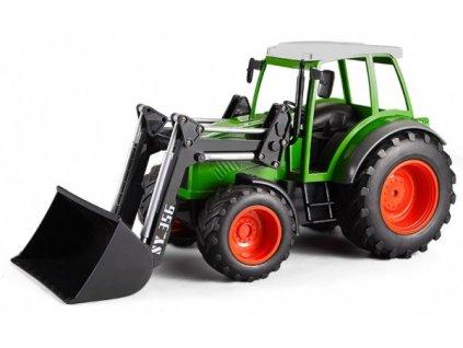 Traktor s funkčním čelním nakladačem 1:16  + Nanopodložka, loupač, nebo desinfekce