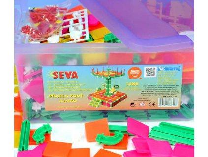 SEVA Jumbo Přijela pouť polytechnická STAVEBNICE v boxu 1486 dílků  + Nanopodložka, loupač, nebo desinfekce