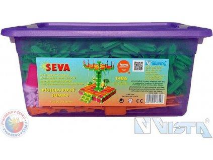 VISTA SEVA Jumbo Přijela pouť polytechnická STAVEBNICE v boxu 1486 dílků  + Nanopodložka, loupač, nebo desinfekce