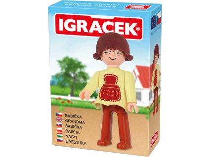 EFKO IGRÁČEK Babička figurka 7,5cm rodina v krabičce STAVEBNICE