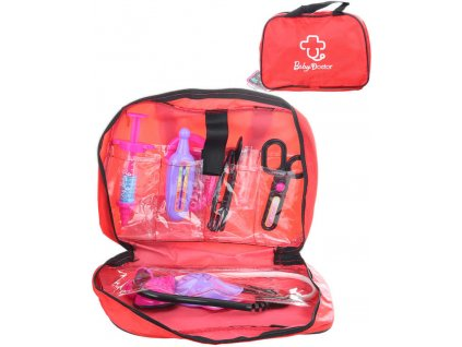 Sada doktorská dětské lékařské plastové potřeby set 10ks v tašce