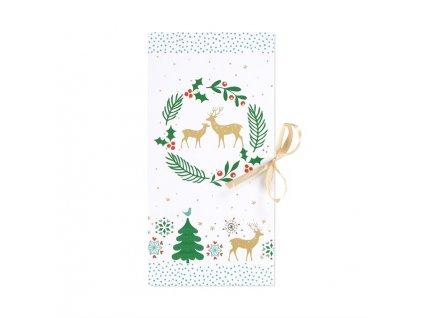 Dárková krabička - Vánoční bílá