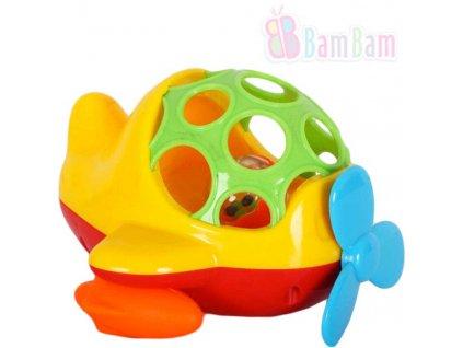 BAM BAM Baby helikoptéra barevná 149 chrastítko pro miminko