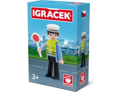 EFKO IGRÁČEK Dopravní policista s doplňky v krabičce STAVEBNICE