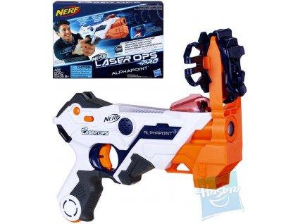 HASBRO NERF Pistole Laser Ops Alphapoint blaster na baterie Světlo Zvuk