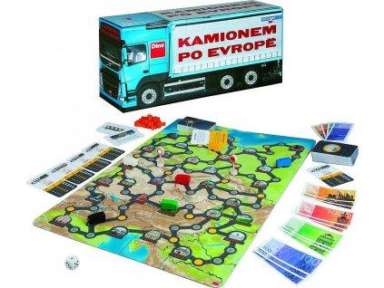 Společenská hra: Kamionem po Evropě