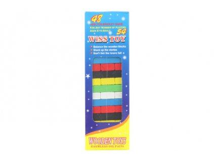 Hra věž dřevěná barevná