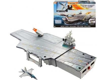 MATTEL Matchbox Top Gun: Maverick letadlová loď set s letadlem a doplňky  + Dárek zdarma
