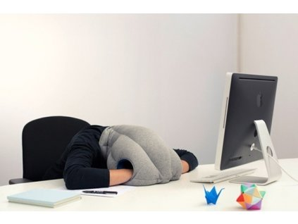 Pštrosí spací polštář (pytel) na hlavu