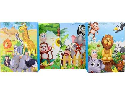 Taška dárková s obrázkem zvířátka Safari 30x40cm různé druhy