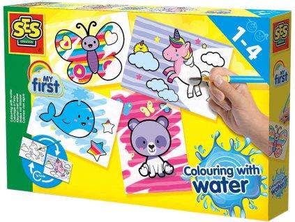 SES CREATIVE Baby Moje první malování štětcem a vodou Fantastická zvířata