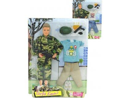 DeFa Kevin panák 29cm voják + trendy obleček 2v1 set s doplňky 2 druhy