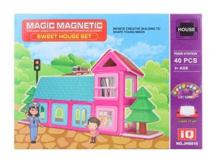 Magnetická stavebinice 40 ks