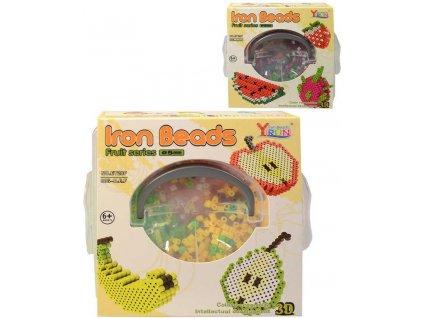 Korálky zažehlovací ovoce 3D objekty set 1600ks 2 druhy v přenosném boxu