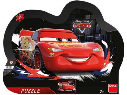 DINO Puzzle obrysové deskové Cars (Auta) Souboj 25 dílků 30x23cm skládačka