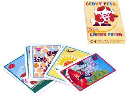 DINO Hra Černý Petr ŠTĚŇÁTKO karty v papírové krabiččce *SPOLEČENSKÉ HRY*