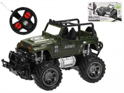 RC Auto vojenské 1:24 džíp na vysílačku 27MHz na baterie 2 barvy