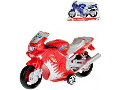 Motorka sportovní plastová 17,5cm na setrvačník 2 barvy