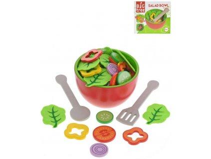 DŘEVO Mísa salátová herní set se zeleninou a náčiním *DŘEVĚNÉ HRAČKY*