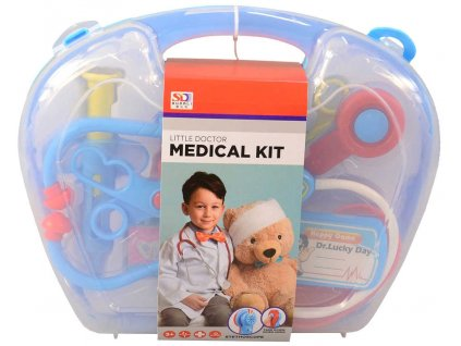 Sada doktorská v kufříku dětské lékařské potřeby na baterie plast Světlo