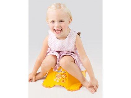 Hrající dětský nočník protiskluzový Malá Princezna