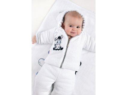 Luxusní dětské zimní tepláčky New Baby Zebra