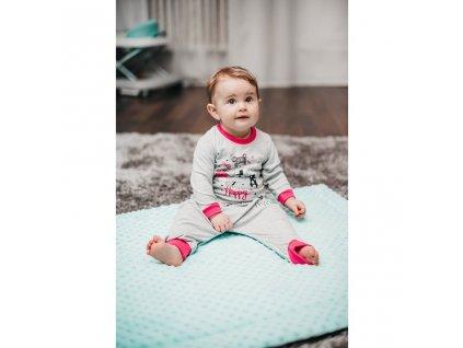 Kojenecké tepláčky a tričko Fit and Happy New Baby