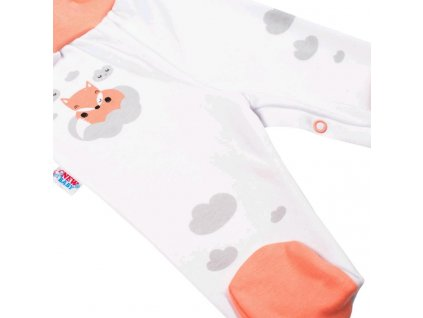 Kojenecké bavlněné polodupačky New Baby Liška