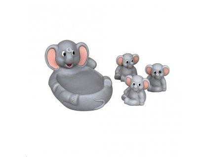 Hračka do vody Bayo sloníci - šedá