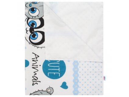 Nepromokavá flanelová podložka New Baby Friendly - modrá