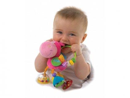 Playgro - Chrastítko oslík růžový