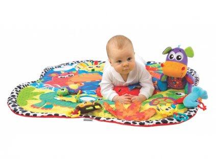 Playgro - Hrací deka zvířátka v džungli  + Nanopodložka, loupač, nebo desinfekce