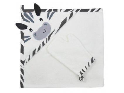 Dětská osuška s žínkou Koala Happy Zebra