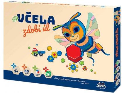 SEVA Mozaika Včela zdobí úl plastová STAVEBNICE 60 dílků