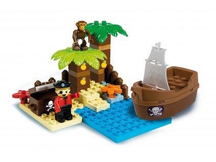 Androni Unico Pirátský ostrov pokladů 37 dílků
