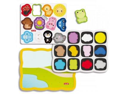 Quercetti Smart Puzzle magnetico first colors and words – magnetická skládačka