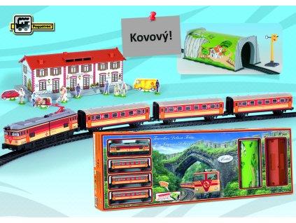 TRAVELERS DELUXE TRAIN - osobní vlak  + Nanopodložka, loupač, nebo desinfekce